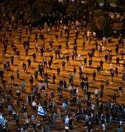 Bild från protesten.  Oded Balilty / TT NYHETSBYRÅN