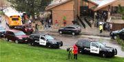 Stort polispådrag vi skolan. David Zalubowski / TT NYHETSBYRÅN
