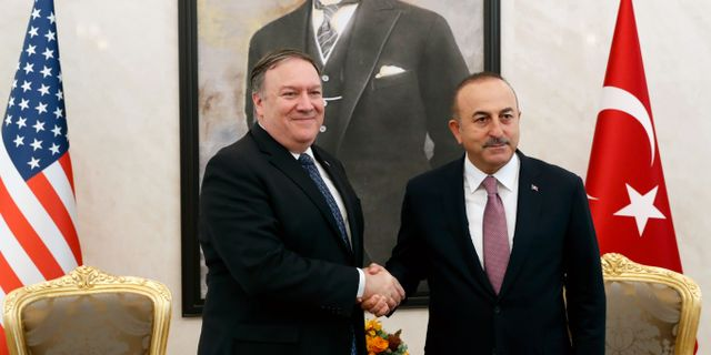 Pompeo och Erdogan. Leah Millis / TT NYHETSBYRÅN/ NTB Scanpix