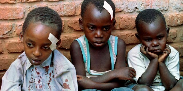 Arkivbild. Föräldralösa barn i Rwanda i samband med folkmordet 1994. En bild som fick stor spridning. CORINNE DUFKA / TT NYHETSBYRÅN