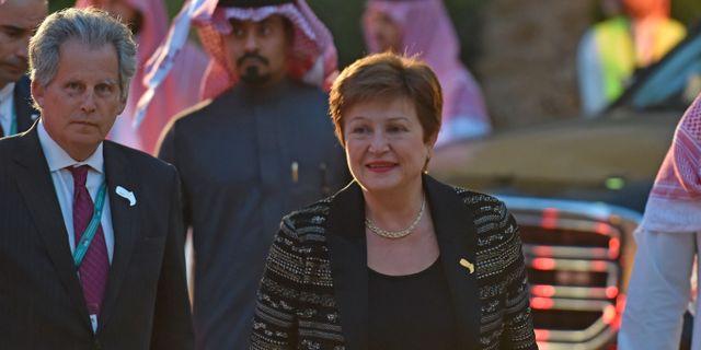 IMF-chefen Georgieva vid G20-mötet i Riyad. FAYEZ NURELDINE / TT NYHETSBYRÅN