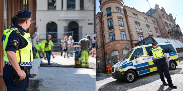 Vägen utanför Grand Hotel i Lund fick snabblagas. TT