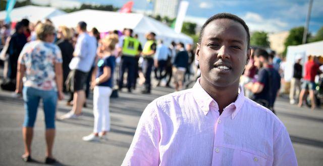 Ahmed Abdirahman under förra årets politikvecka i Järva. Marcus Ericsson/TT / TT NYHETSBYRÅN