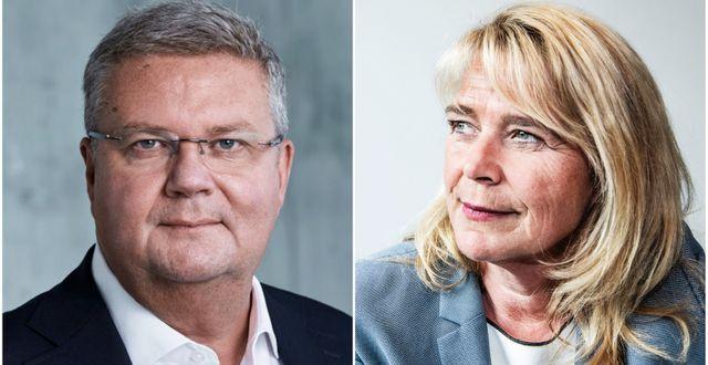 Anders Runevad och Magdalena Gerger.  TT