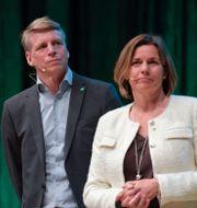 MP:s språkrör Per Bolund och Isabella Lövin.  Henrik Montgomery/TT / TT NYHETSBYRÅN