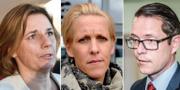 Isabella Lövin,  Annika Jacobson och Lars Hjälmered.  TT