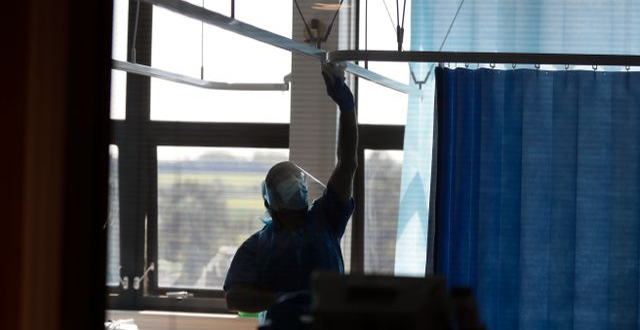Bild från ett sjukhus i Cambridge, Storbritannien. Kirsty Wigglesworth / TT NYHETSBYRÅN