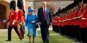 Drottning Elizabeth II tillsammans med Donald Trump, 13 juli 2018. Pablo Martinez Monsivais / TT / NTB Scanpix