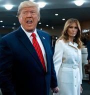Donald Trump med hustrun Melania. Craig Ruttle / TT NYHETSBYRÅN