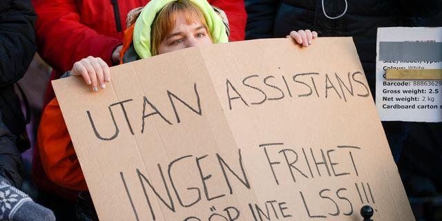 Demonstration mot förändringar i LSS Janerik Henriksson/TT / TT NYHETSBYRÅN