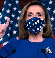 Representanhusets talman Nancy Pelosi, demokrat.  Jose Luis Magana / TT NYHETSBYRÅN