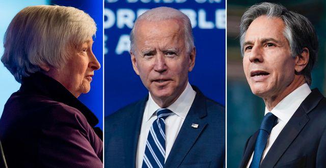 Janet Yellen, Joe Biden, Antony Blinken.