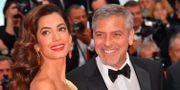 George och Amal Clooney. Arkivbild. LOIC VENANCE / AFP
