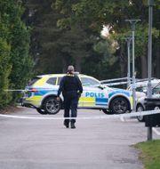 Polisen har under dagen arbetat på brottsplatsen Carl Carlert/TT / TT NYHETSBYRÅN