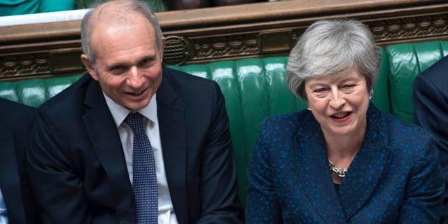 David Lidington och Theresa May. Jessica Taylor / TT NYHETSBYRÅN/ NTB Scanpix