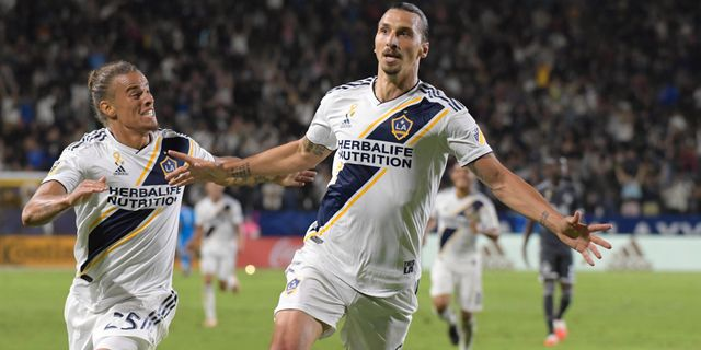 Zlatan i LA Galaxy-tröjan KIRBY LEE / ACTION IMAGES
