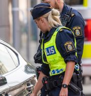 Illustrationsbild polis. Staffan Claesson/TT / TT NYHETSBYRÅN
