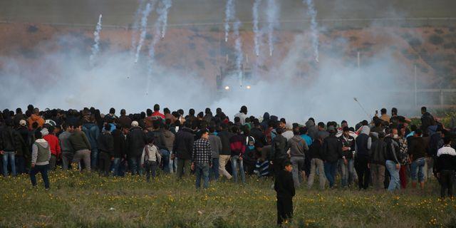 En protest tidigare iår vid gränsen till Gaza. Arkivbild. Ibraheem Abu Mustafa / TT NYHETSBYRÅN