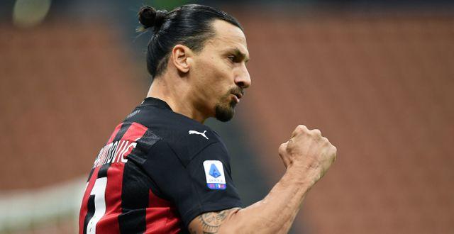 Zlatan Ibrahimovic i matchen mot Inter.  DANIELE BUFFA / BILDBYRÅN