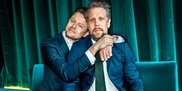 Fredrik Wikingsson och Filip Hammar. Claudio Bresciani/TT / TT NYHETSBYRÅN