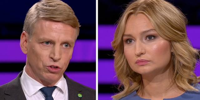 Per Bolund och Ebba Busch Thor.  SVT