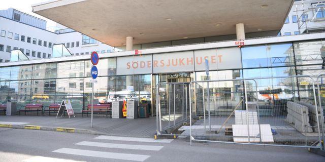 Entrén till Södersjukhuset.  Fredrik Sandberg/TT / TT NYHETSBYRÅN