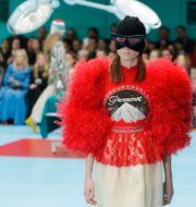 Gucci-visning inför höst- och vintersäsongen 2018/2019.  Antonio Calanni / TT NYHETSBYRÅN