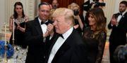 Donald Trump och hustrun Melania Trump. MIKE THEILER / TT NYHETSBYRÅN