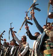 Huthirebeller i Jemen.  Hani Mohammed / TT NYHETSBYRÅN/ NTB Scanpix