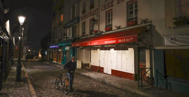 Ödsligt i Paris. Michel Euler / TT NYHETSBYRÅN