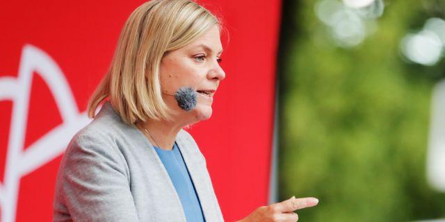 Finansminister Magdalena Andersson, S.  Adam Ihse /TT / TT NYHETSBYRÅN