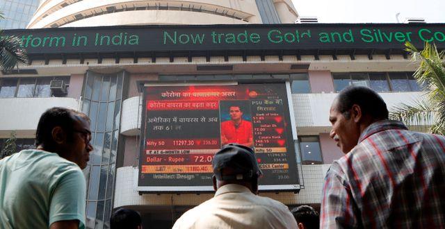 Bombay Stock Exchange. Rajanish Kakade / TT NYHETSBYRÅN