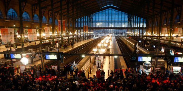 Tågstationen Gare du Nord i Paris Francois Mori / TT NYHETSBYRÅN