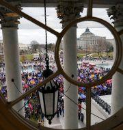 Trumpanhängare utanför Kapitolium Andrew Harnik / TT NYHETSBYRÅN