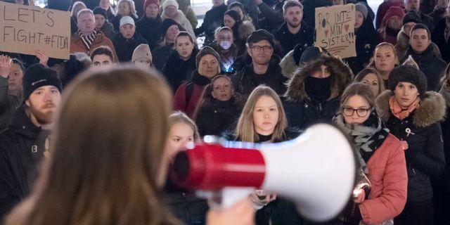 Arkivbild. Demonstration efter den friande domen. Johan Nilsson/TT / TT NYHETSBYRÅN