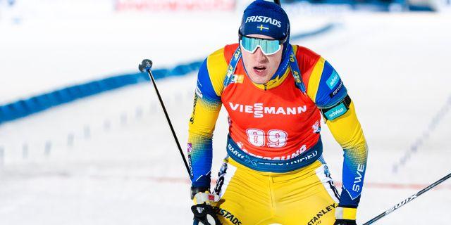 Sebastian Samuelsson glider in i mål. JOHANNA LUNDBERG / BILDBYRÅN