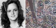 Helena Andersson och kartvy över Mariestad. TT/Google Maps.