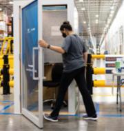 Amazons avslappningsbox som det visades i filmklippet. TT/Amazon