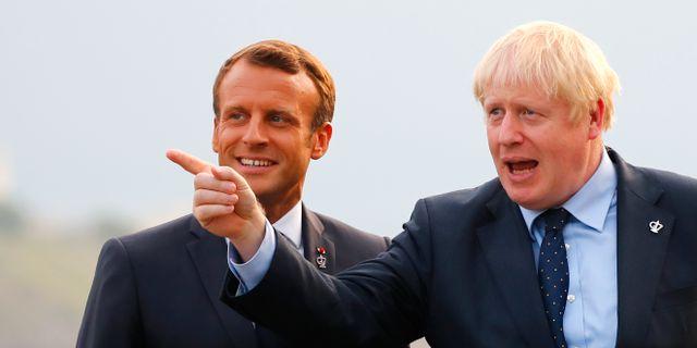 Emmanuel Macron och Boris Johnson. Francois Mori / TT NYHETSBYRÅN