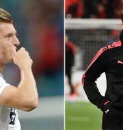 Toni Kroos och Mesut Özil.  TT.
