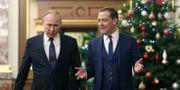 President Vladimir Putin och Rysslands premiärminister. DMITRY ASTAKHOV / SPUTNIK