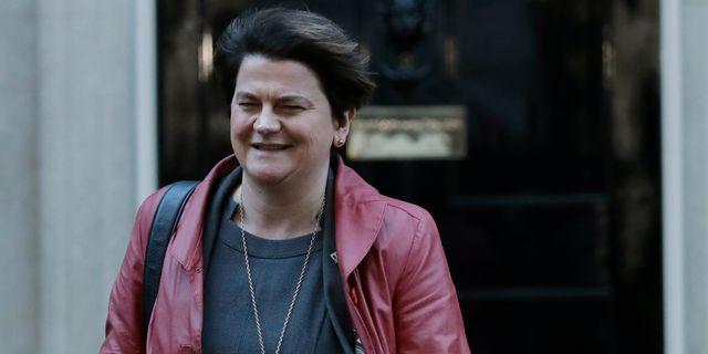 DUP:s partiledare Arlene Foster. Matt Dunham / TT NYHETSBYRÅN/ NTB Scanpix
