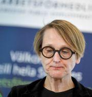 Arbetsförmedlingens analyschef Annika Sundén. Pontus Lundahl/TT / TT NYHETSBYRÅN