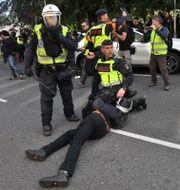 Bild från händelserna i Göteborg.  Fredrik Sandberg/TT / TT NYHETSBYRÅN