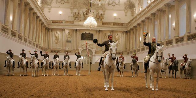 Spanska ridskolan i Österrikes huvudstad Wien. Lilli Strauss / TT NYHETSBYRÅN