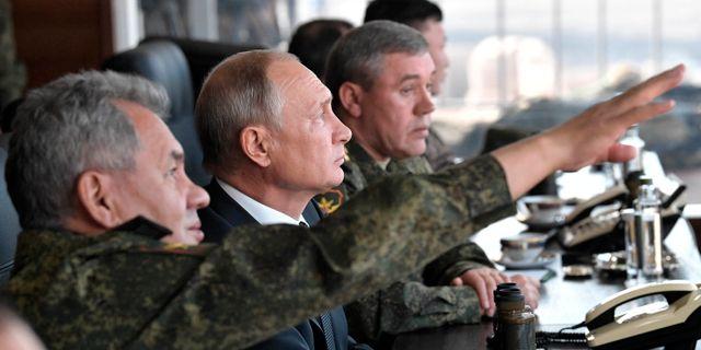 Bild på Vladimir Putin.  Alexei Nikolsky / TT NYHETSBYRÅN/ NTB Scanpix