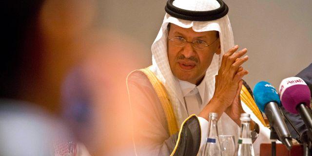 Arkivbild: Saudiarabiens energiminister prins Abdulaziz bin Salman.  Jon Gambrell / TT NYHETSBYRÅN