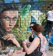 Graffitifestivalen i Snösätra 2017. Henrik Montgomery/TT / TT NYHETSBYRÅN