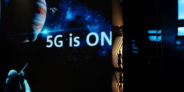 Huawei-utställning om 5G vid Huawei Campus i Shenzhen. Arkivbild. Ng Han Guan / TT NYHETSBYRÅN