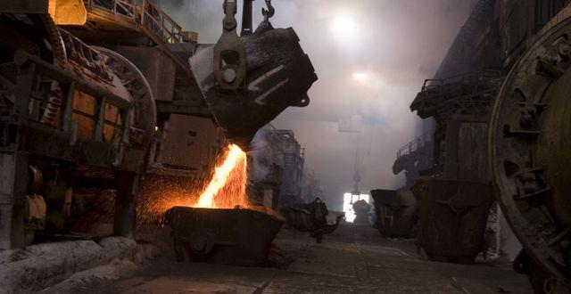 Flytande kopparkoncentrat vid ryska Norilsk Nickel som är storproducent av palladium. Arkivbild. SERGEY PONOMAREV / TT / NTB Scanpix